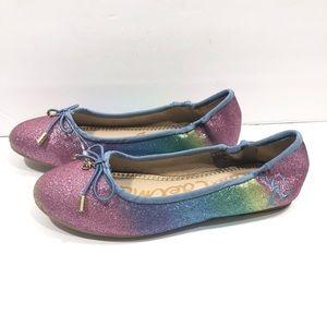 Sam Edelman Felicia Rainbow Glitter Ballet Flats